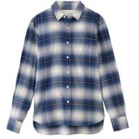 MUJI 无印良品 17AC779 男士棉法兰绒格子衬衫
