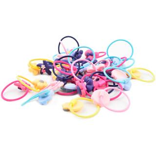 美肤语儿童卡通发绳(40根)MF0608 不伤发宝宝头绳头饰可爱发圈皮筋扎头绳