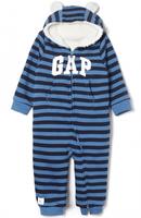 Gap 盖璞 374590 E W 婴儿加绒加厚连体衣