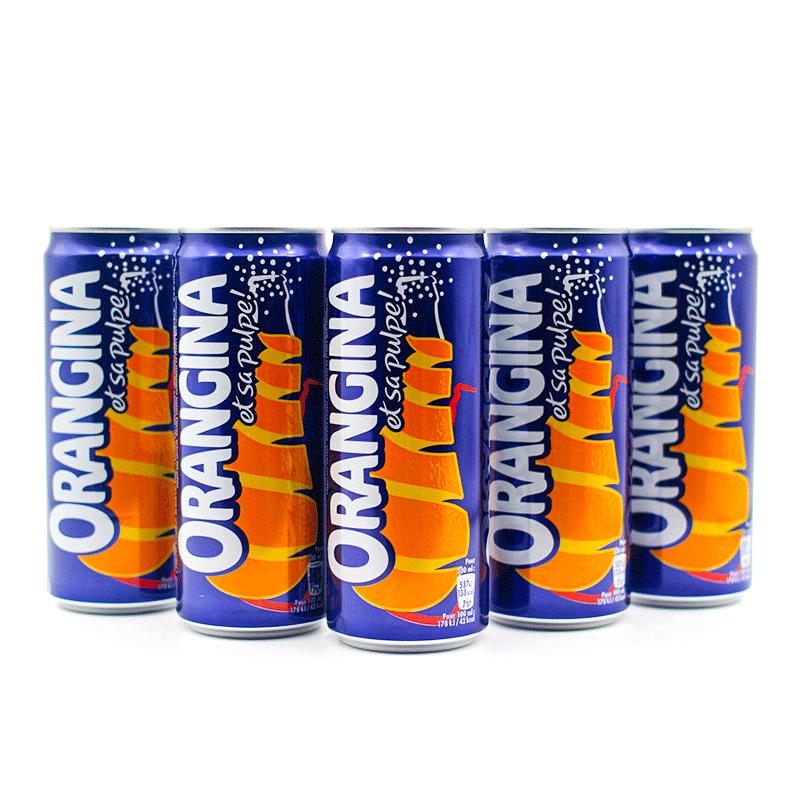 ORANGINA 汲那 香橙汁 330ml*3听