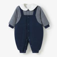 哈贝比 婴儿冬季加厚连体衣