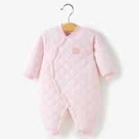 哈贝比 婴儿加厚保暖连体衣