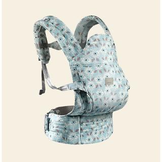 babycare 婴儿背带腰凳 拉希奈蓝底草花纹