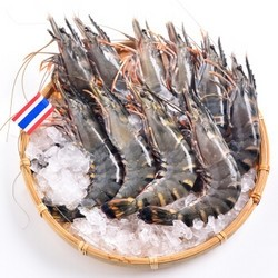 京觅·海外直采 泰国活冻黑虎虾 (大号) 400g 16-20只/盒
