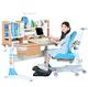 心家宜 M151_M216L 榉木手摇机械升降学习桌椅套装