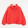 C&A 西雅衣家 200200628 女士短款立领夹棉棉服 深红 M