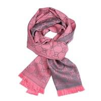 GUCCI 古驰 411115-3G200-9272 围巾 女士经典款流苏双G双面羊毛围巾