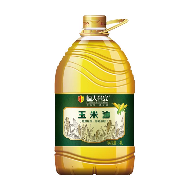恒大兴安 非转基因 玉米油 4L
