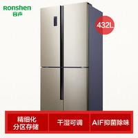 Ronshen  容声 BCD-432WD12FPA  十字对开门冰箱  432L