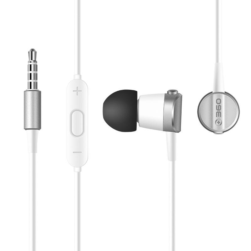 360 DM2018 耳机 (通用、动圈、入耳式、白色)