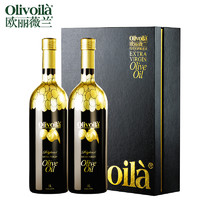 olivoilà 欧丽薇兰 高多酚特级初榨橄榄油 礼盒装 1L*2瓶