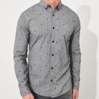 HOLLISTER 220106-1 男士弹力棉扣领衬衫