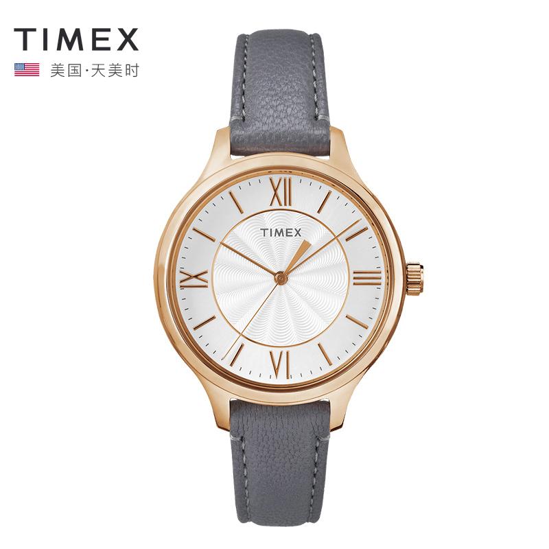 TIMEX天美时 简约复古时尚潮流女士腕表TW2R27700