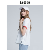La·go·go 拉谷谷 HASS315F15 女士圆领印花短袖T恤 混色 36