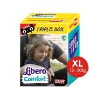 Libero 丽贝乐  comfort 超薄通用纸尿裤XL176片*2包 (12-20kg)