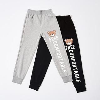 Meters bonwe 美特斯邦威 604010 女士小熊字母针织运动裤