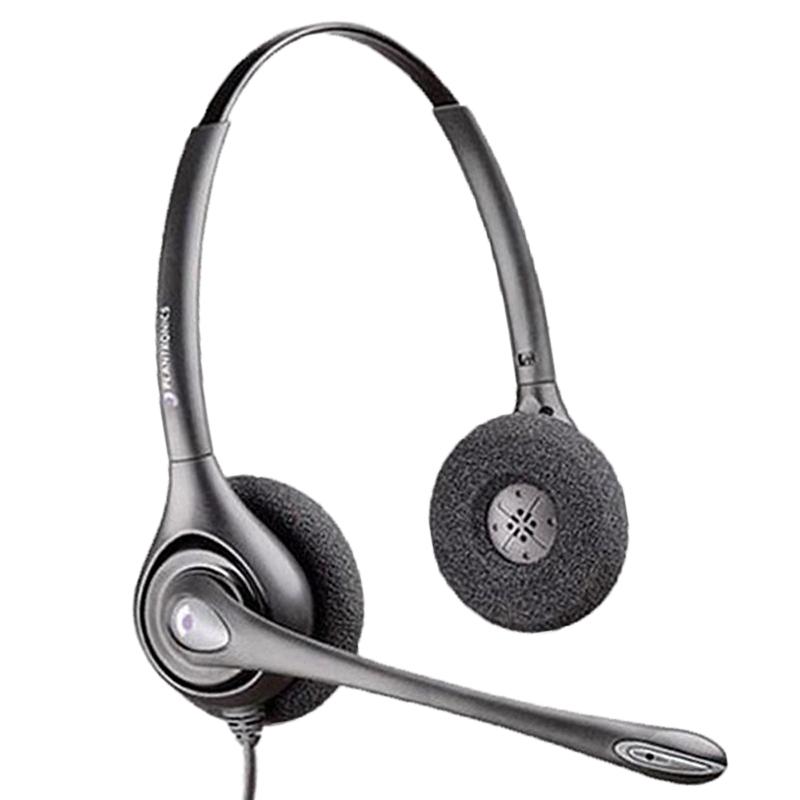 plantronics 缤特力 HW261N 耳机 (Windows、头戴式、黑色)