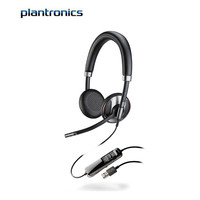 plantronics 缤特力 C725-M 耳机 (Windows、头戴式、黑色)
