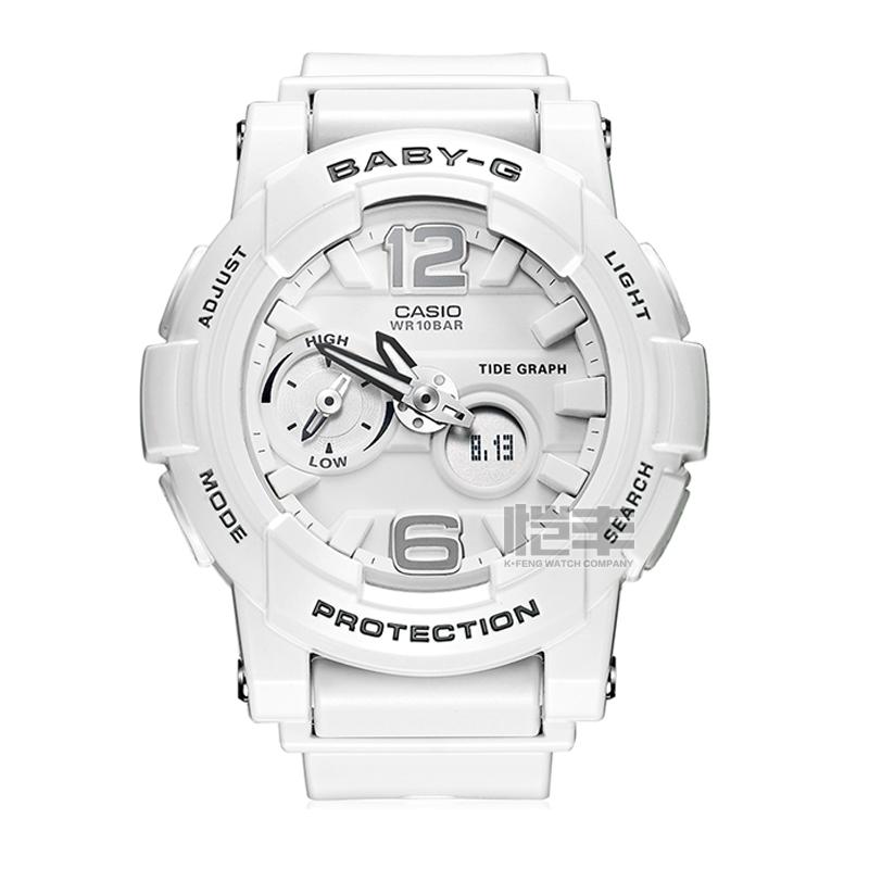 CASIO 卡西欧 BGA-185-7A 电子女士手表 (白色)