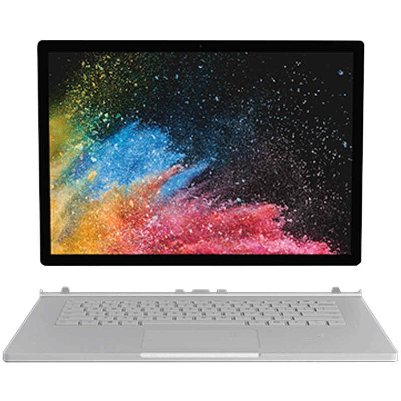 Microsoft 微软 Surface Book 2 笔记本 (13.5英寸、3000x2000、 NVIDIA GeForce GTX1050、16G、Intel 酷睿i7)