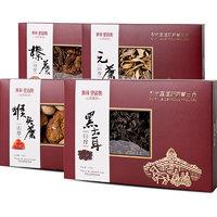 秋林里道斯 东北年货山珍大礼包(元蘑+木耳+榛蘑+猴头菇)各1盒