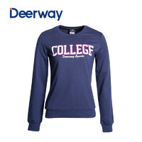 Deerway 德尔惠 秋冬季新款女士套头卫衣运动女装套头运动衫圆领T恤 (其他)