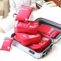 携程优品 防水旅行收纳袋 6件套