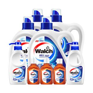 Walch 威露士 倍净洗衣液套装(2kg*4+300g*2+消毒液 60ml*3)