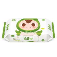 soondoongi 顺顺儿 绿色新生系列 宝宝湿纸巾 绿色带盖 70抽