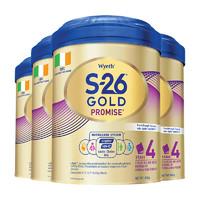 Wyeth 惠氏 金装学儿乐PromiseGold S26 婴儿配方奶粉 4段 900g*4罐 (36个月以上)
