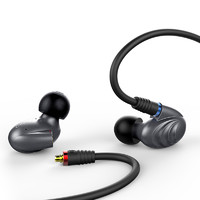 FiiO 飞傲 F9pro 耳机 (通用、圈铁结合、入耳式、钛色)