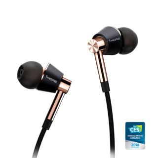 1more 万魔 E1001 耳机 (通用、圈铁结合、入耳式、金色)