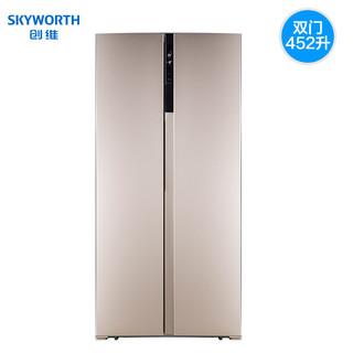 Skyworth 创维 BCD-452WP  对开门冰箱 452L