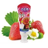 LION 狮王 面包超人 酵素儿童护理牙膏草莓味 40g