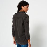 Superdry 极度干燥 SG40000BOF1 女士军装式修身长袖衬衫 卡其色 M