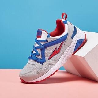 鸿星尔克(ERKE)童鞋男童运动鞋中大童跑鞋儿童防滑耐磨休闲鞋63116120026 正白/亮红 37码