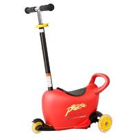 Pouch 帛琦 LB1502 儿童三轮车多功能推车 红黑
