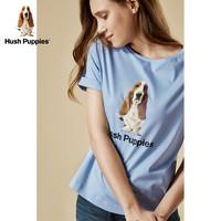 Hush Puppies 暇步士 HD-18301 女士圆领短袖印花T恤 白色 L
