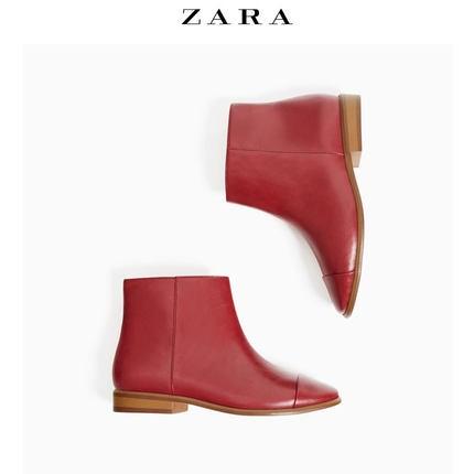 ZARA 女童拼接鞋头短靴