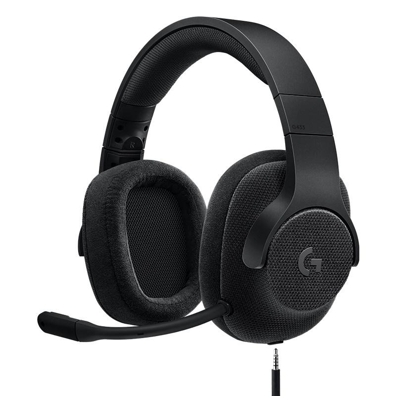Logitech 罗技 G433 有线耳机 (动铁、头戴式、通用、32欧姆、黑色)