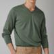 Massimo Dutti 00949224514 男士纯棉V领针织衫
