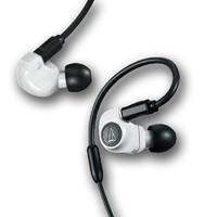audio-technica 铁三角 ATH-IM50 耳机 (通用、动圈、入耳式、白色)