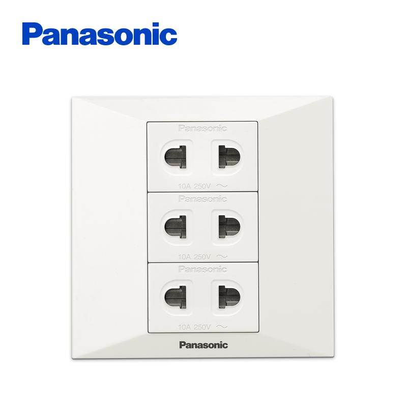 Panasonic 松下 简尚系列 WMW116 六孔三位二孔电源插座