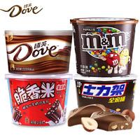 德芙牛奶黑白巧克力+士力架+脆香米组合