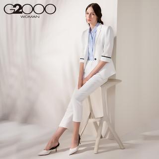 G2000 73250410 女士OL风直筒休闲西裤