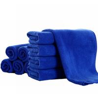车之吻 10条装细纤维擦车毛巾 吸水去污 (磨绒加厚型60CM*40CM) 蓝色 *3件