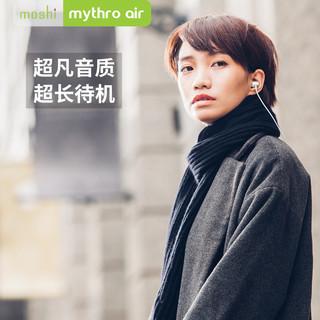 moshi 无线蓝牙耳机 (通用、后挂式、银白 钛灰)
