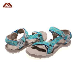 Kolumb 哥仑步 情侣凉鞋防滑休闲织带沙滩鞋子 (36 37、沙红女 紫色女)