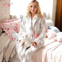 梦蜜 法兰绒加厚款孕产妇睡衣
