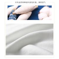 BEVERRY 比菲力 FT558000 男士水墨印花棉麻短袖T恤 白色 M